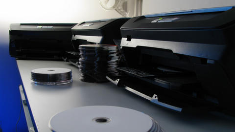 Label printing works Sequence Stock Video Footage