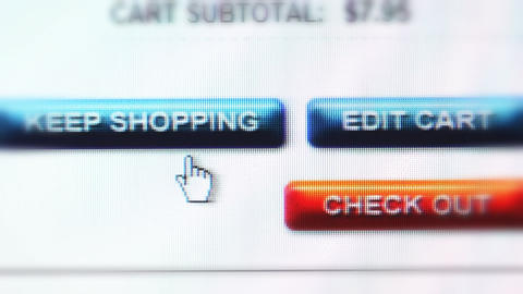 Shopping Buttons stock footage