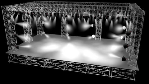 Concert Stage 3D Model stock footage