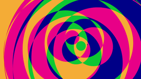 Psychedelic Circles 2 - Colorful Graphical Video Background Loop stock footage