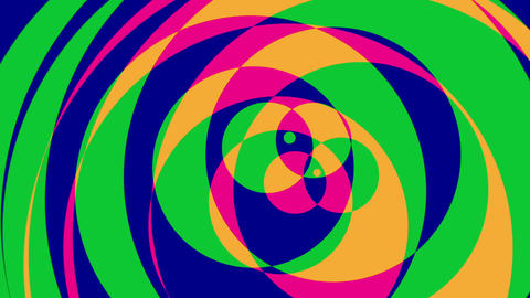 Psychedelic Circles 2 - Colorful Graphical Video... Stock Video Footage