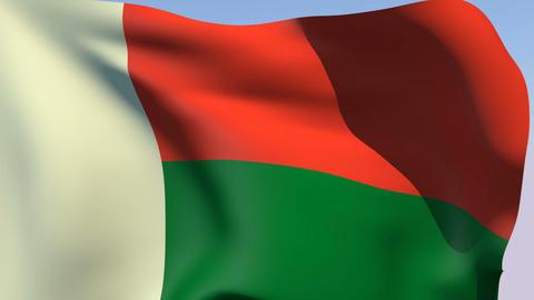 Flag of Madagascar Stock Video Footage