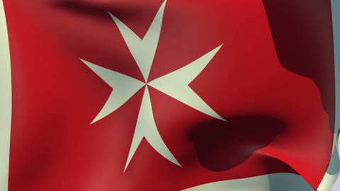 Flag of Malta Civil Ensign Stock Video Footage