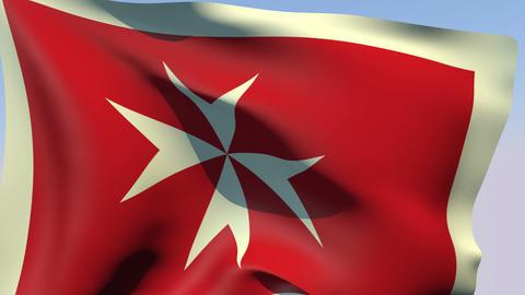 Flag of Malta Civil Ensign Stock Video Footage