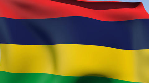 Flag of Mauritius Animation