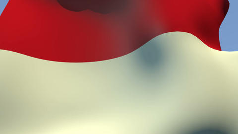Flag of Monaco Animation