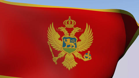 Flag of Montenegro Stock Video Footage