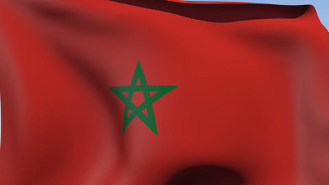 Flag of Morocco Animation