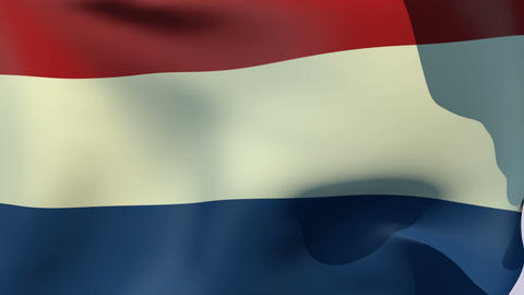 Flag of Netherlands Stock Video Footage