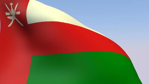 Flag of Oman Stock Video Footage
