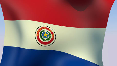 Flag of Paraguay Stock Video Footage