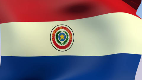 Flag of Paraguay Animation