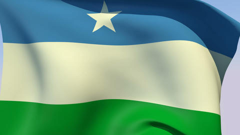 Flag of Puntland Stock Video Footage
