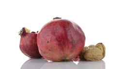 Ripe pomegranate fruit Footage