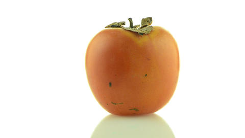 Red ripe persimmon Stock Video Footage