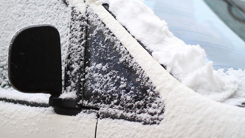 car in snow trap Stock Video Footage