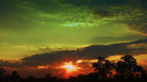 time lapse magic sunset Stock Video Footage
