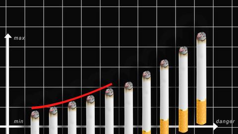 no smoking graph Stock Video Footage