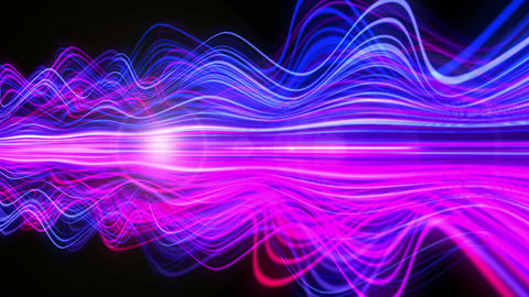 Light Streaks Background - Fractal Background 09 (HD) Animation