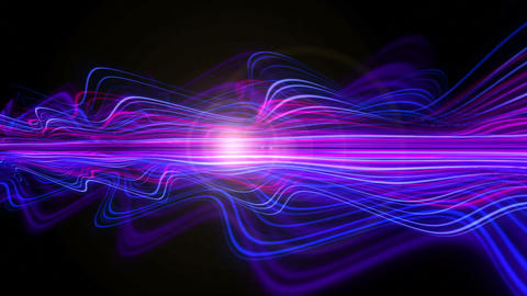 Light Streaks Background - Fractal Background 09 (HD) Stock Video Footage