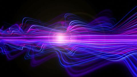 Light Streaks Background - Fractal Background 09 (HD) Stock Video Footage