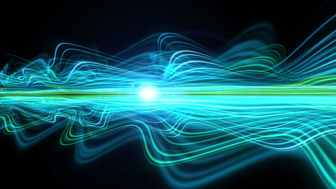 Light Streaks Background - Fractal Background 07 (HD) Stock Video Footage