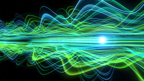 Light Streaks Background - Fractal Background 07 (HD) Animation