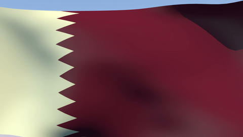 Flag of Qatar Stock Video Footage