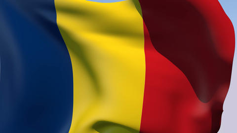 Flag of Romania Stock Video Footage