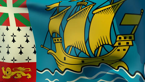 Flag of Saint-Pierre and Miquelon Animation