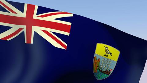 Flag of Saint Helena Stock Video Footage