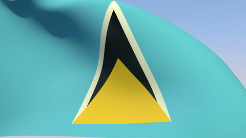 Flag of Saint Lucia Animation