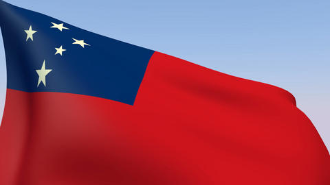 Flag of Samoa Animation
