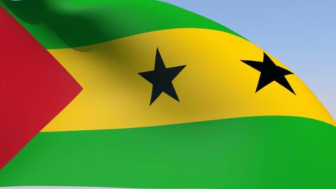 Flag of Sao Tome and Principe Animation