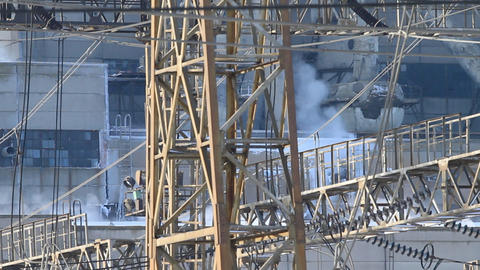 close shot of power plant Footage