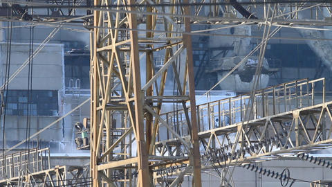 close shot of power plant Stock Video Footage