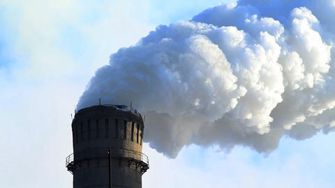 Industrial smokestack Stock Video Footage