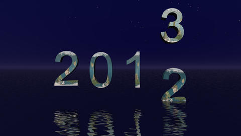 Happy  2013 And  Sky   Mov stock footage