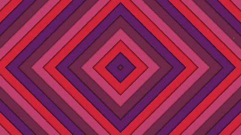Abstract Shapes Tunnel Rhombus Colorful Stripes Seamless… Stock Video Footage