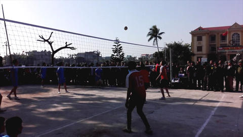 group of people playing volleyball Footage