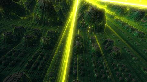 Flight in nanotech world Stock Video Footage