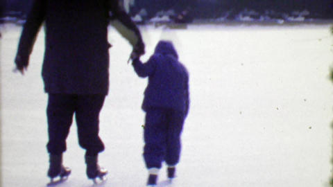 1964: Control you Speed Skate at Your Own Risk ice skating rink Footage