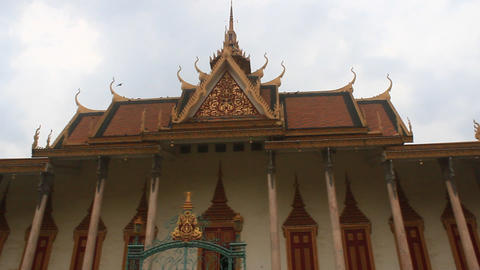 Visiting the Kings Palace - Phnom Penh Cambodia Live Action