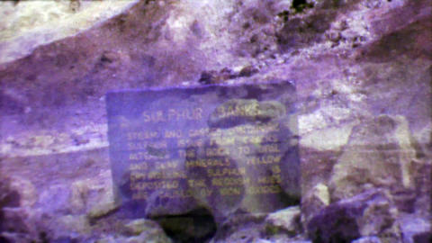 1964: Ha'a Kulamanu Sulphur Banks volcanic steam vents smells rotten eggs Footage
