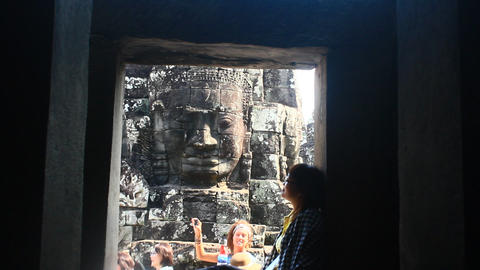 tourists visit Angkor of Cambodia Footage