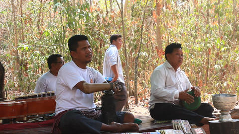 SIEM REAP, CAMBODIA – MAY, 1, 2016: folk songs in Cambodia Live Action