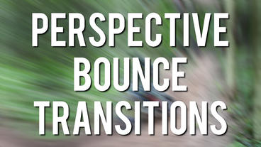 Perspective Bounce Transitions Premiere Pro Template