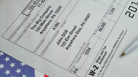 W-2 Taxes Form 2018 for man person Footage