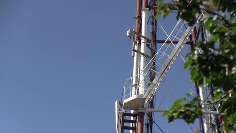 Telecommunication GSM 5G, 4G, 3G microwave tower ビデオ