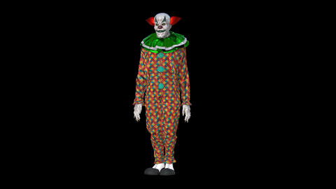 clown bows down, Animation, Alpha Channel GIF